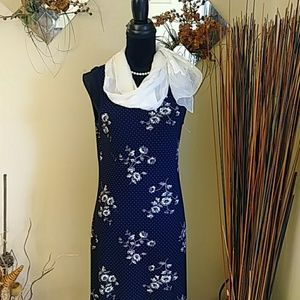 Liz Claiborne Blue Dress Sz Medium